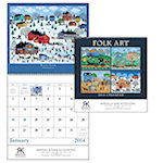 Folk Art Spiral Wall Calendars